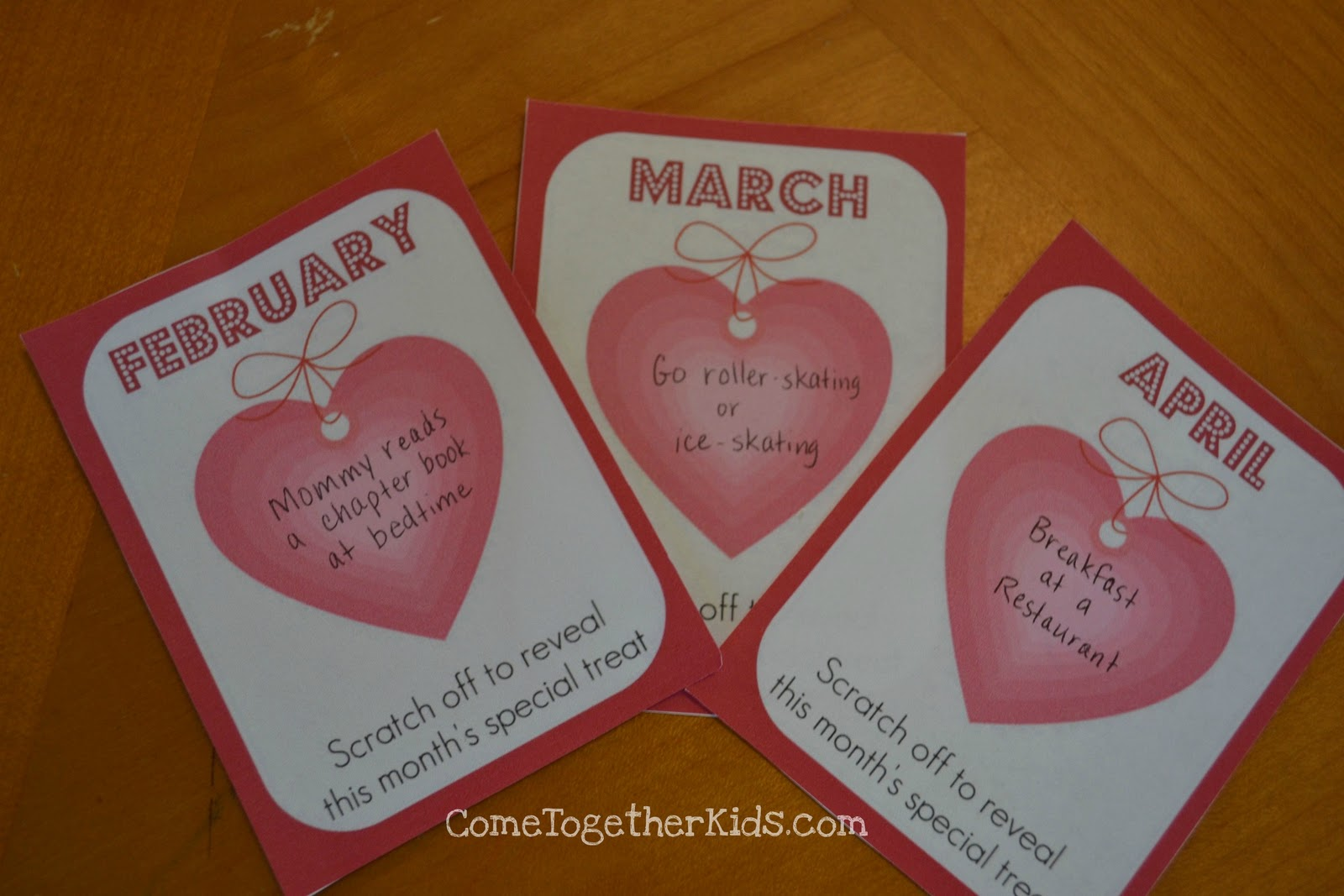 Come Together Kids A Year of Valentines with DIY scratchoffs – Scratch off Valentine Card