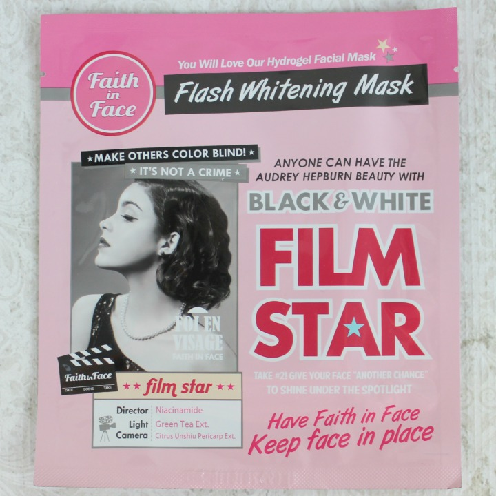 Faith in Face Black & White Film Star Hydrogel Mask