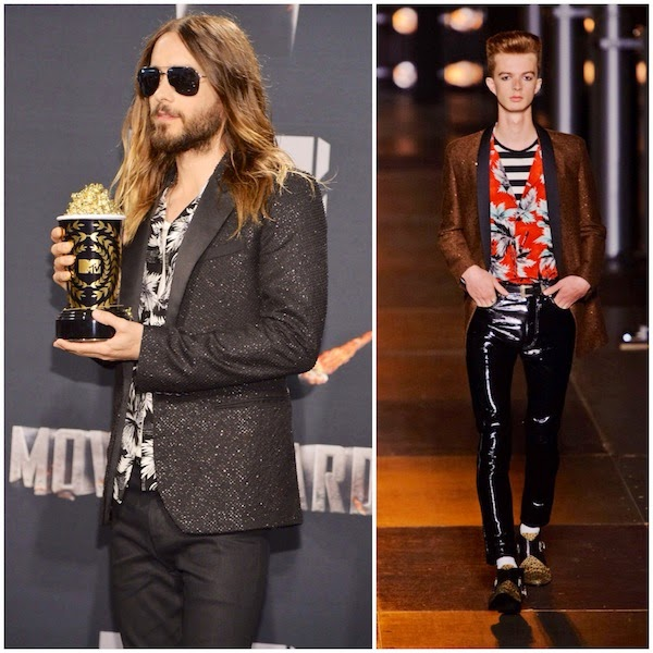 Jared Leto in Saint Laurent - 2014 MTV Movie Awards