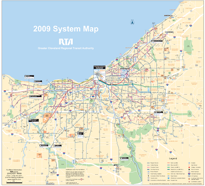 Transportation map of Cleveland