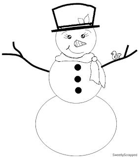 Snowman Printable Patterns Printable paper and digi