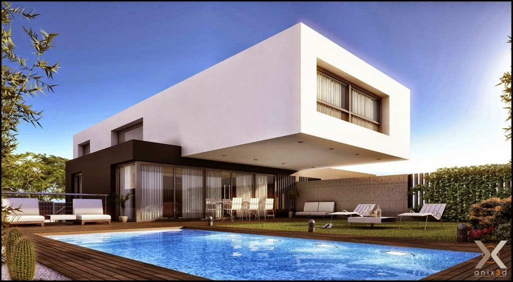 Toque de arte fotos de fachadas de casas modernas com for Imagenes casas modernas