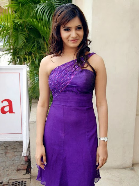 Samantha In Cute Purple Dress