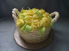 Egy kosár sárga rózsa