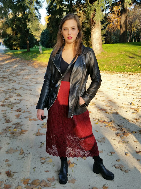 http://elisiroflife.blogspot.com Lace, Leather & Autumn Colors