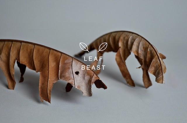art contemporain artiste japonais Baku Maeda projet Leaf Beast animaux sculptés dans de feuilles mortes de magnolia Vanessa Lekpa