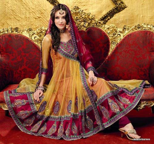 Indian Pakistani anarkali frocks