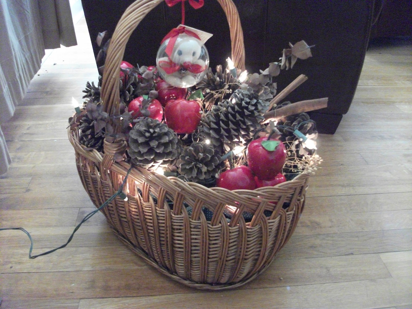 Personality Is Preferred Christmas Pine Cone Basket