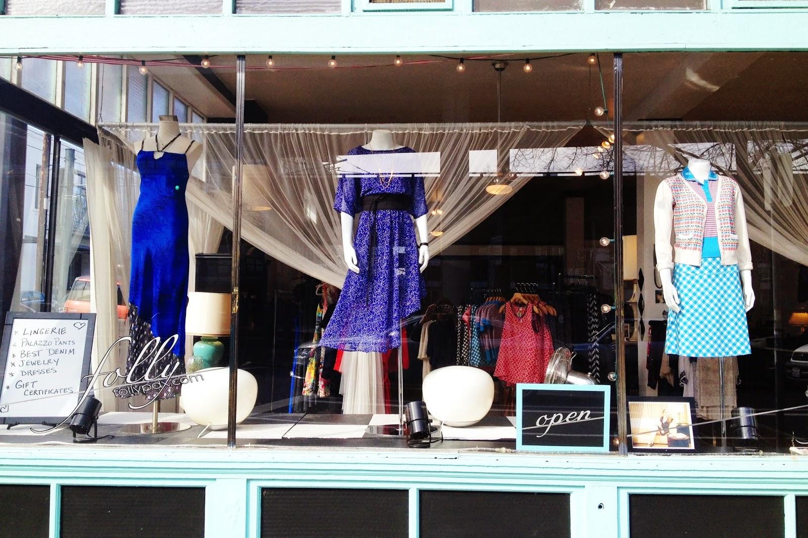 Window display at Folly