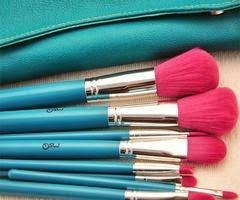 Pincéis Maquilhagem Rosa e Azul
