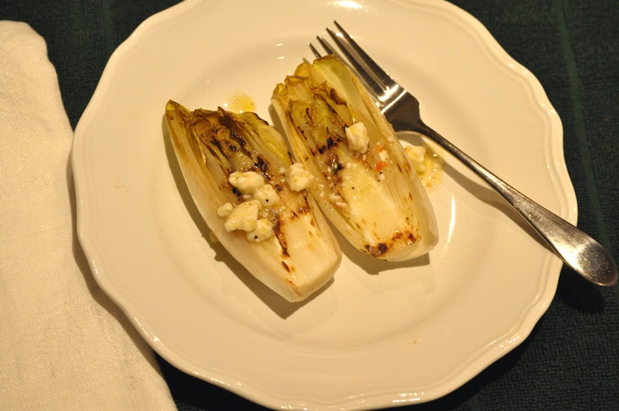 Grilled Endive with Gorgonzola Dressing