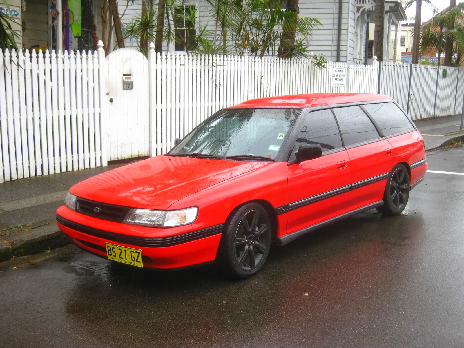 Aussie Old Parked Cars 1992 Subaru Liberty Lx High Roof Wagon