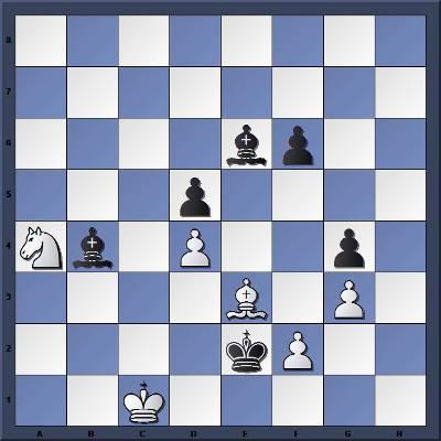 Les Noirs jouent et gagnent en 6 coups