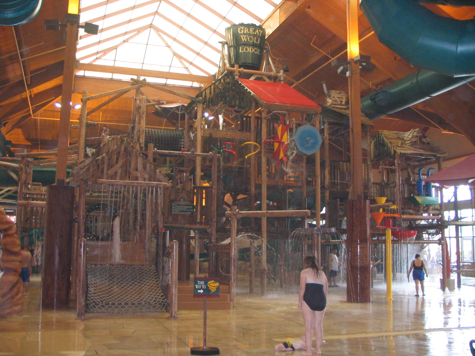 Located near Atlanta, the Great Wolf Lodge Georgia includes a huge, 93,square-foot indoor water park. Attractions include the River Canyon Run family raft ride, the Big Foot Pass lily pad walk, and Raccoon Lagoon, an outdoor activity pool.
