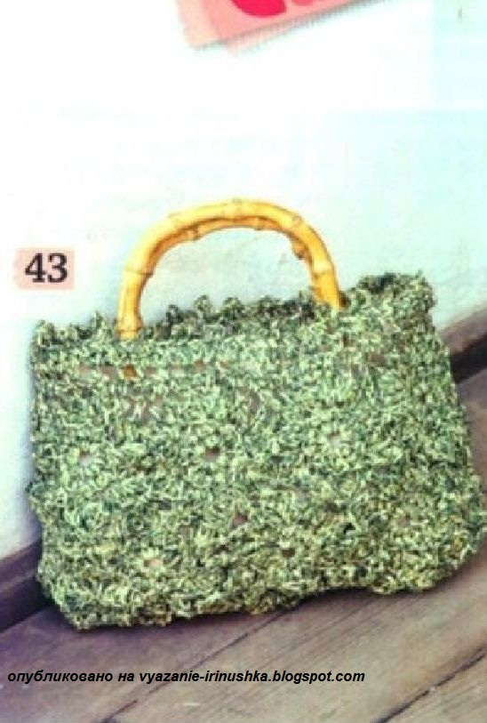 схемы вязания летних сумок