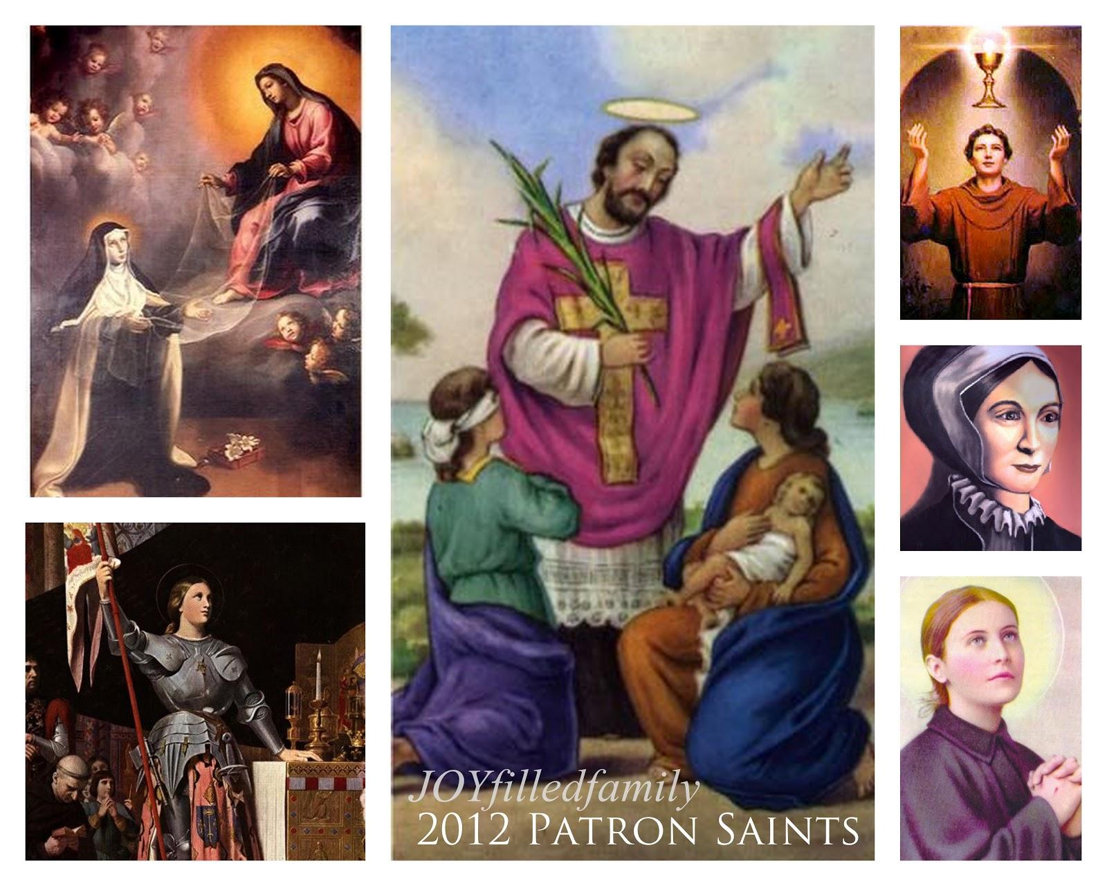 Catholic saints pictures and names family patron saints of 2013