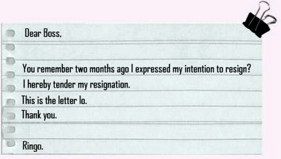 funny resignation letters just send what you have in your heart