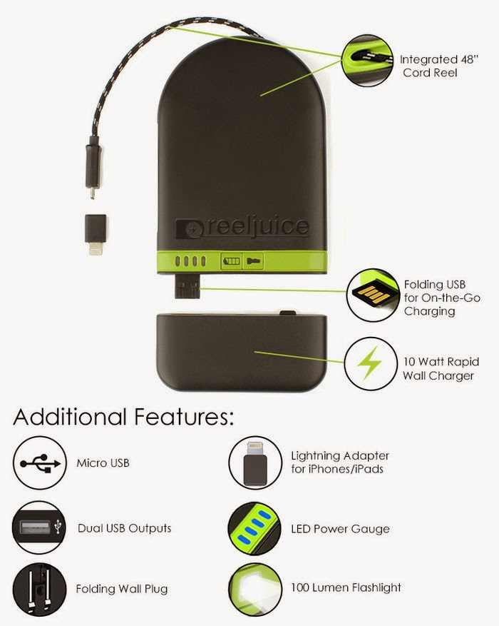 retractable cord backup charger