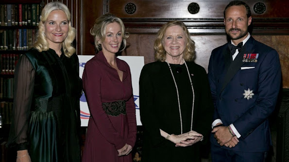 Crown Prince Haakon and Crown Princess Mette-Marit of Norway attended the gala dinner of the Norwegian-American Chamber of Commerce (NACC) at Metropolitan Club