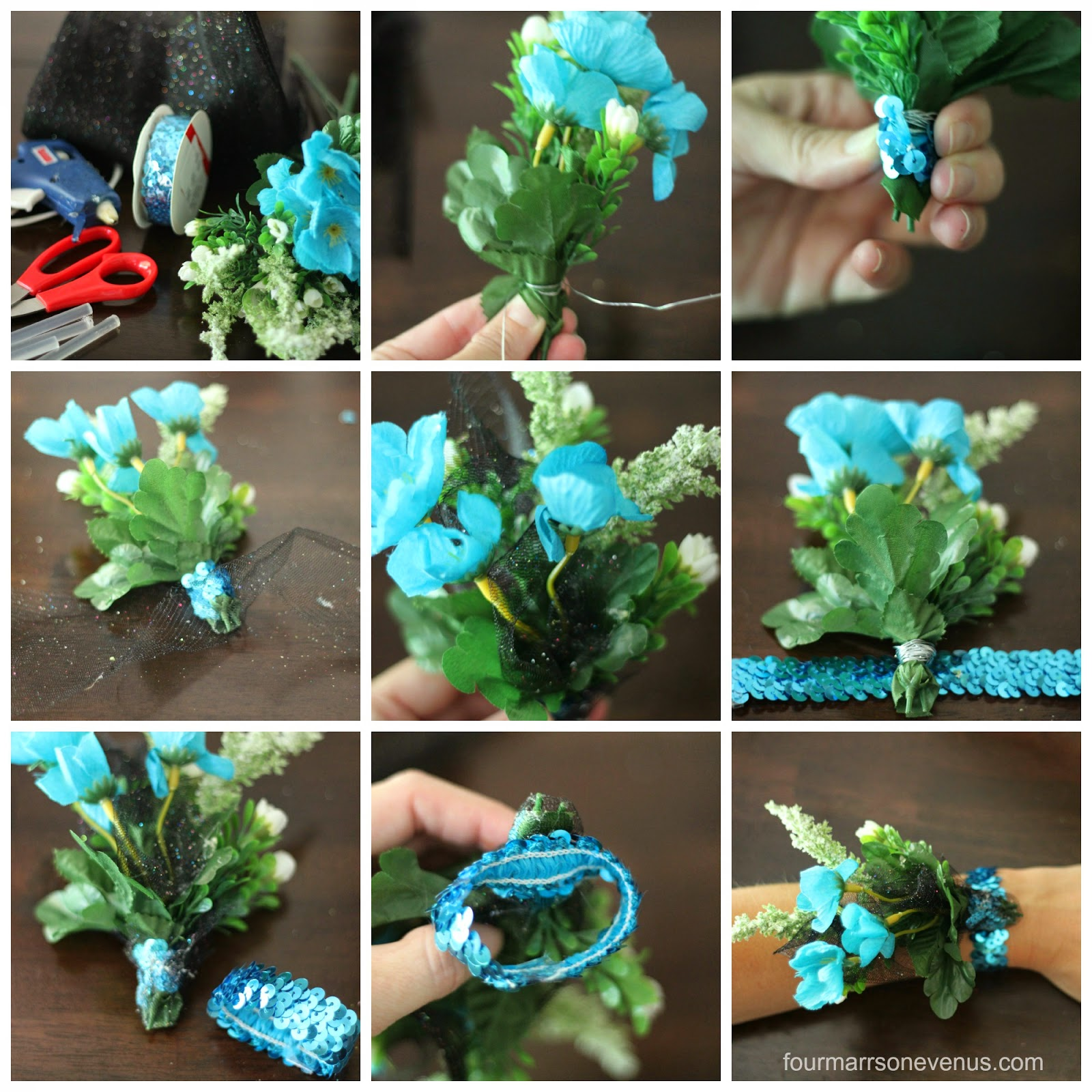 DIY Steps Fake Corsage