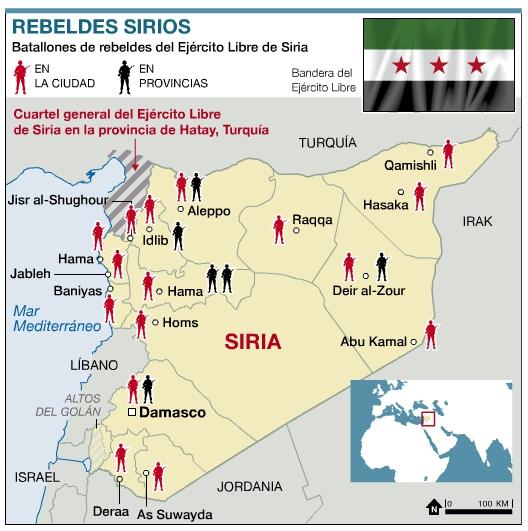 Evolución De La Guerra En Siria Mapa De La Guerra En Siria