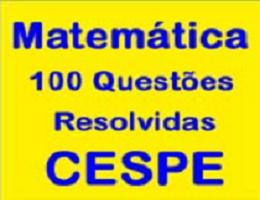 CURSO ONLINE COM O PROFESSOR JOSELIAS - 100  QUESTÕES RESOLVIDAS CESPE