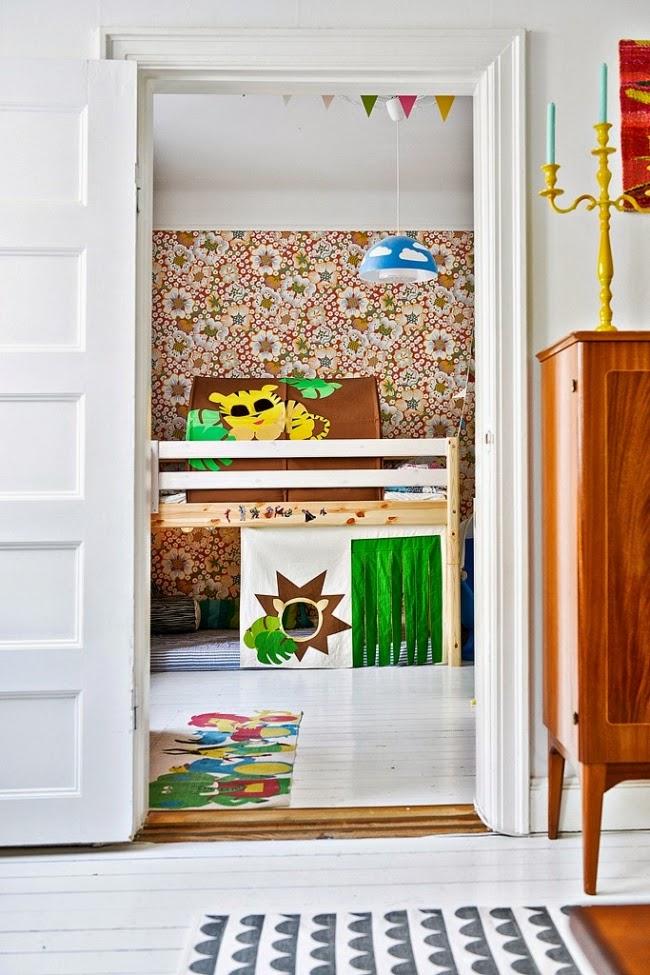 wnętrza, wystrój wnętrz, dom, kolory, radosne mieszkanie, styl skandynawski, białe wnętrza, pokój dziecięcy