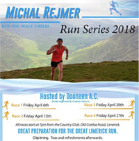 5 mile race series in Limerick City...Fri 6th, 13th, 20th & 27th Apr 2018