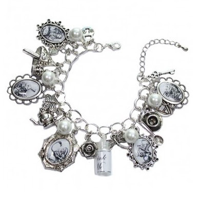 Alice and friends charm bracelet