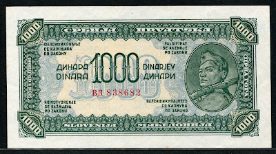 Yugoslavian money currency Dinara Dinarjev Dinari Yugoslav Partisan