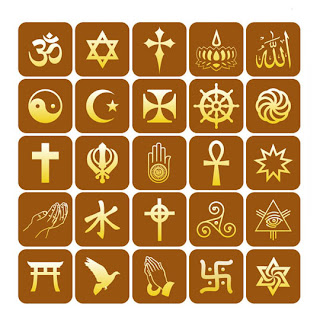 different religious symbols