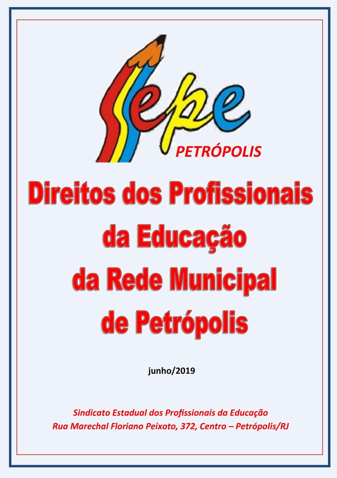 CARTILHA DOS DIREITOS DOS PROFISSIONIAS DA EDUCAÇÃO