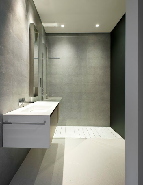 Photo of modern minimalist bathroom