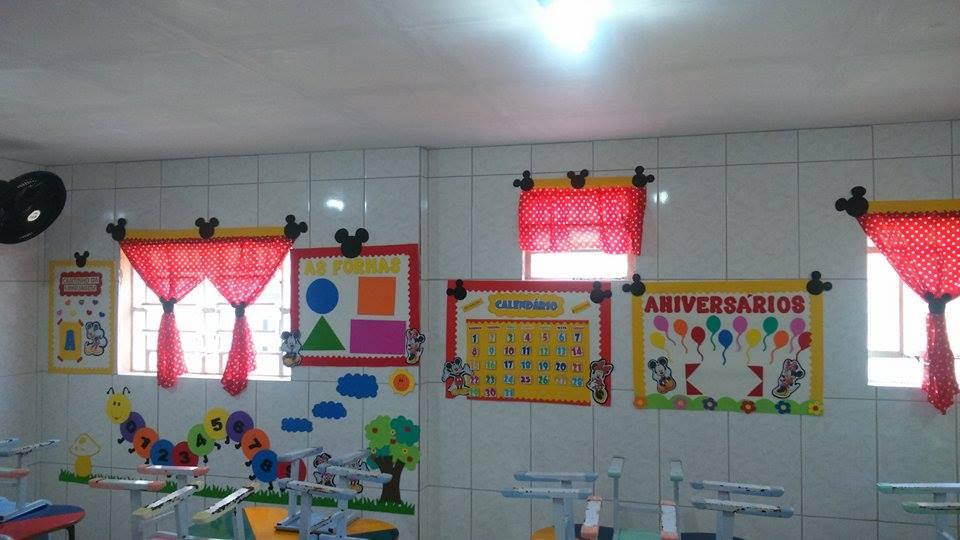 Decoração para Sala de Aula Mickey e Minnie Espaço do Educador Ideia Criativa