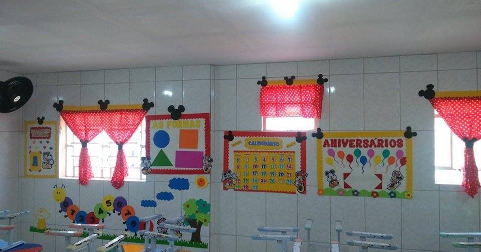 Decora o para sala de aula mickey e minnie espa o do for Cortinas para aulas