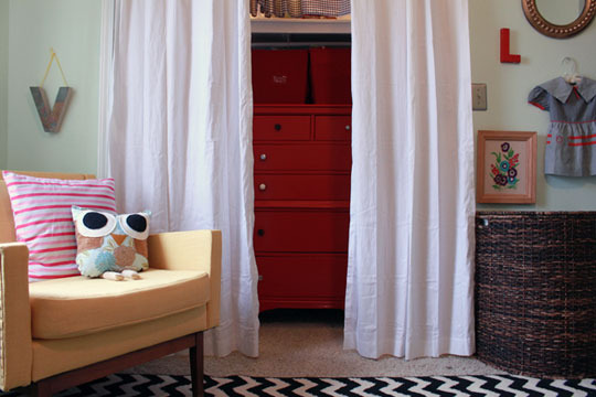 Sherri Cassara Designs: Curtains for closet doors