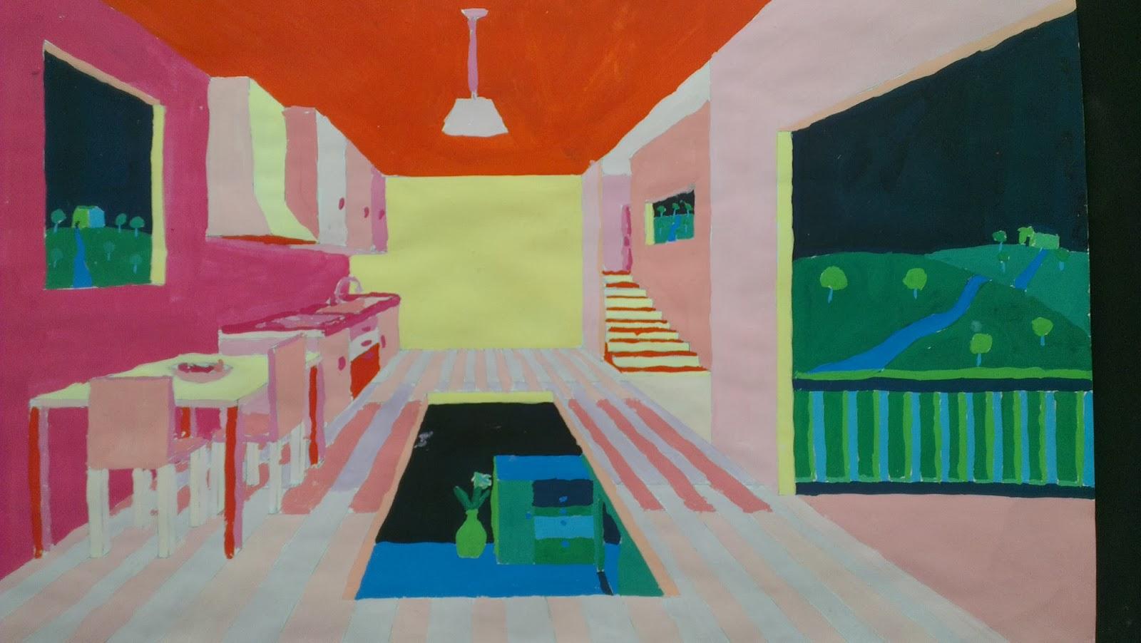 Kunstenmakers centraal perspectief in warme en koude kleuren - Koude en warme kleuren ...