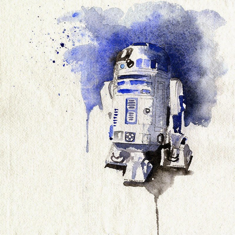 10-R2-D2-Kenny-Baker-Clémentine-Campardou-Blule-Star-Wars-IV-V-VI-Watercolors-www-designstack-co