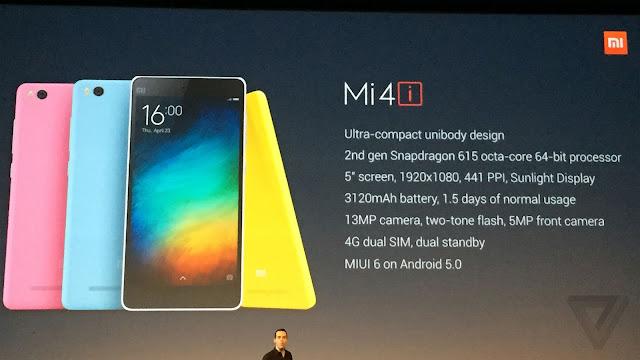 Xiaomi Mi 4i Review, Harga, Spesifikasi dengan Performa dan Desain Menggiurkan Kaskus, Lazada, Launch, Specs, Erafone Terbaru 2015 dan 2016.