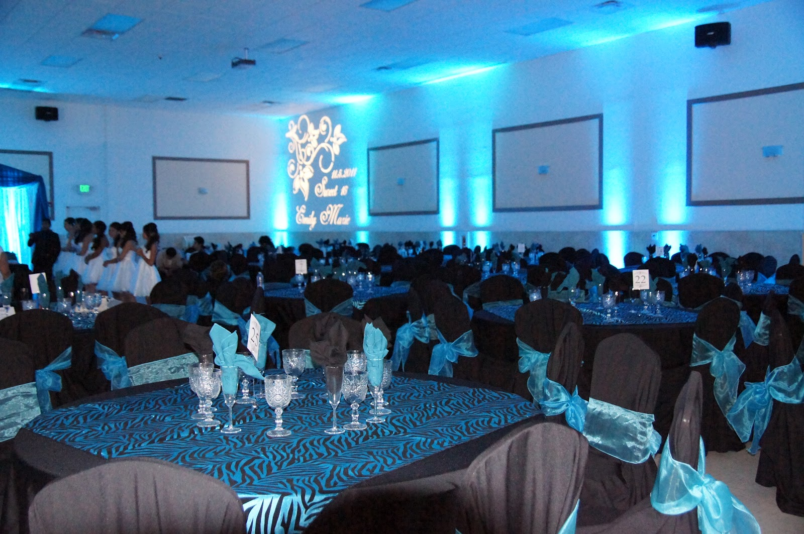 Royal Blue Quinceanera Table Decorations Photograph | Quince