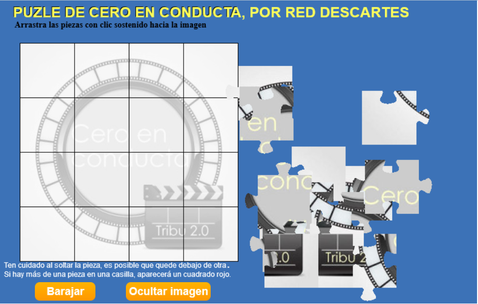 PUZZLE de Cero en conducta por la Red Descartes
