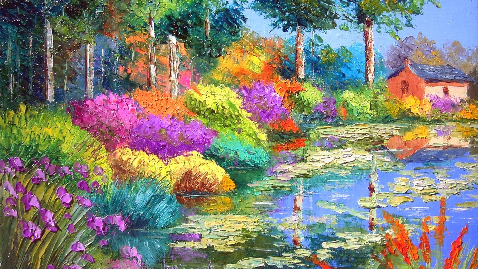 Beautiful Paint Endearing With Park Oil Painting Pictures