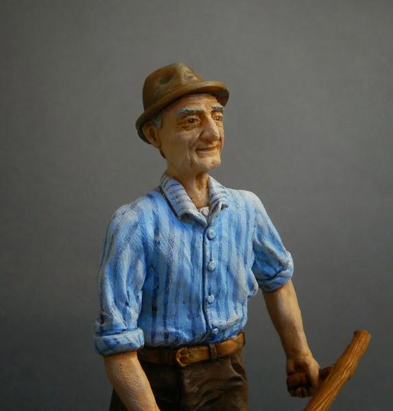 statuina presepe realistica somigliante foto statuette piccole orme magiche