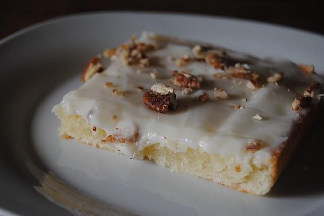 Paula deen white texas sheet cake recipe