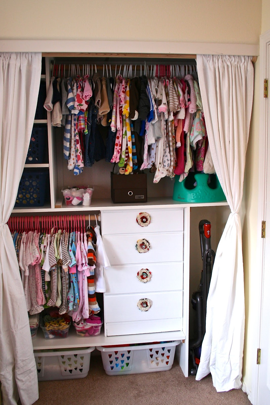 Be sweetly inspired an organized baby girl closet for Inspired closets