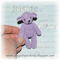 How to make a little crochet teddy bear