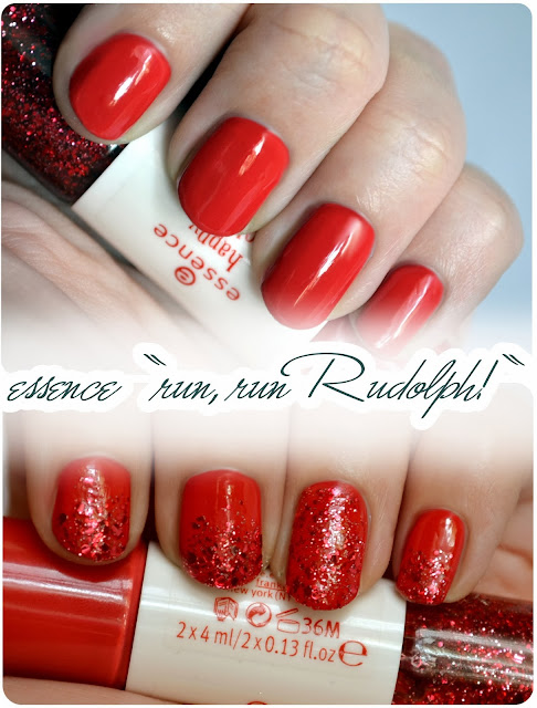Review essence Happy Holidays LE - Colour³ Nailpolish RUN, RUN RUDOLPH