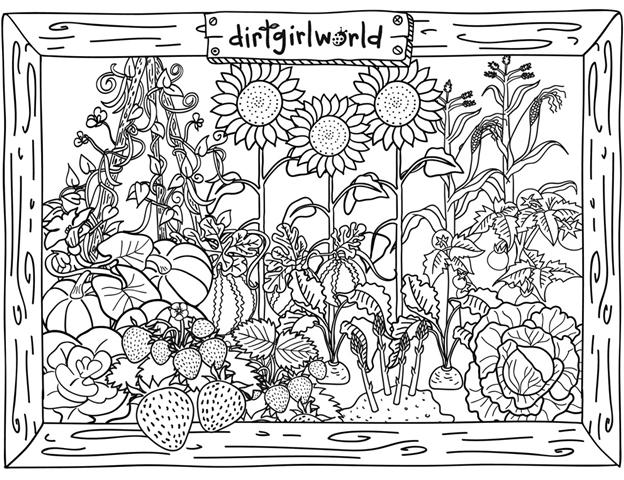 Garden Coloring Pages For Kids New House Design