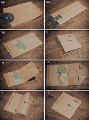 Cara Membuat Tempat CD atau DVD Menggunakan Kertas Dengan Mudah