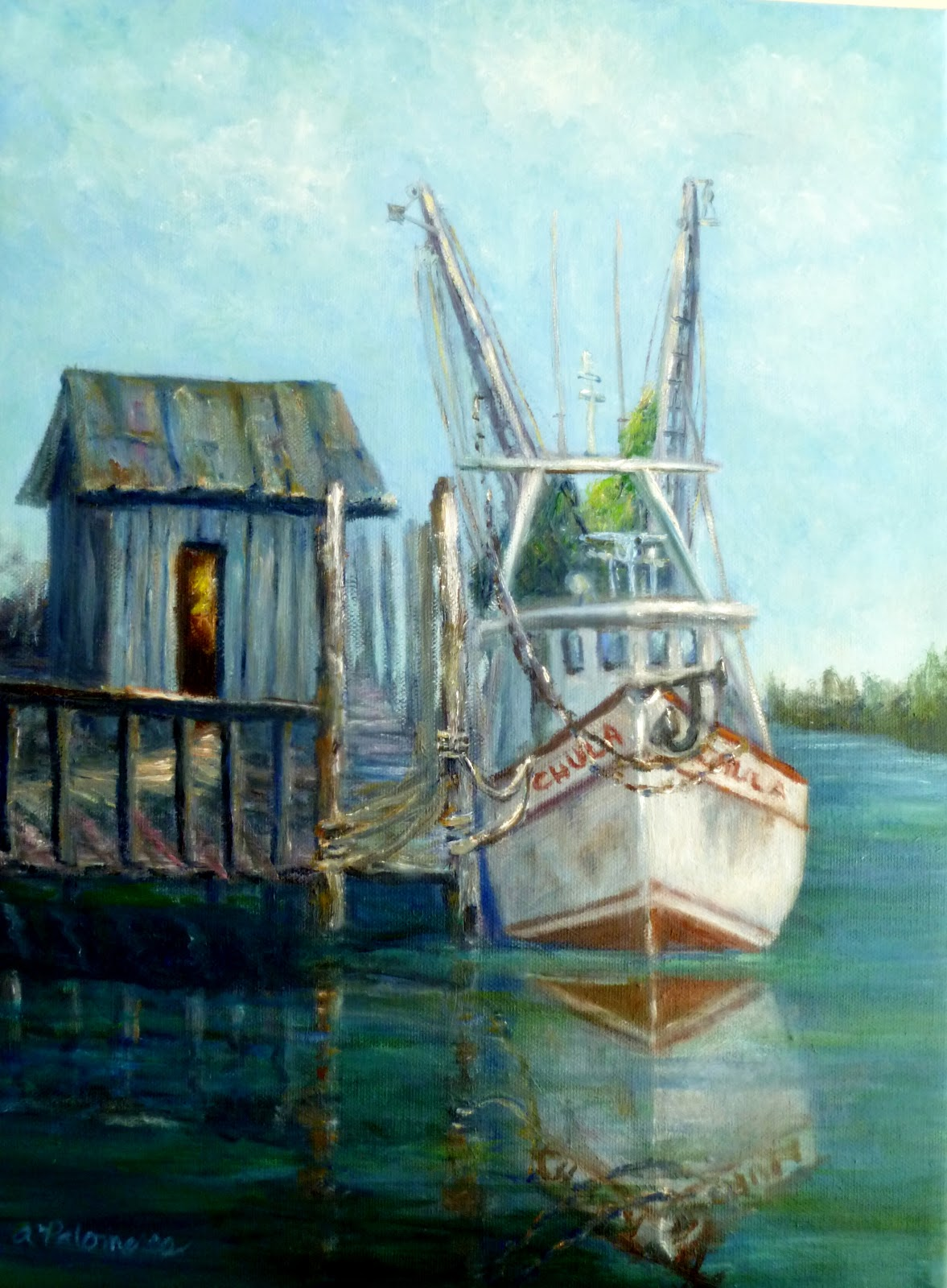 Shrimp Boat Paintings Amber Palomares Coastal And Nature